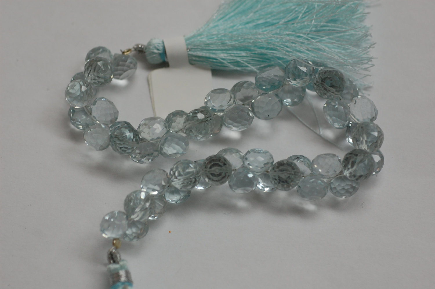 Aquamarine Hydro Quartz Onions Faceted