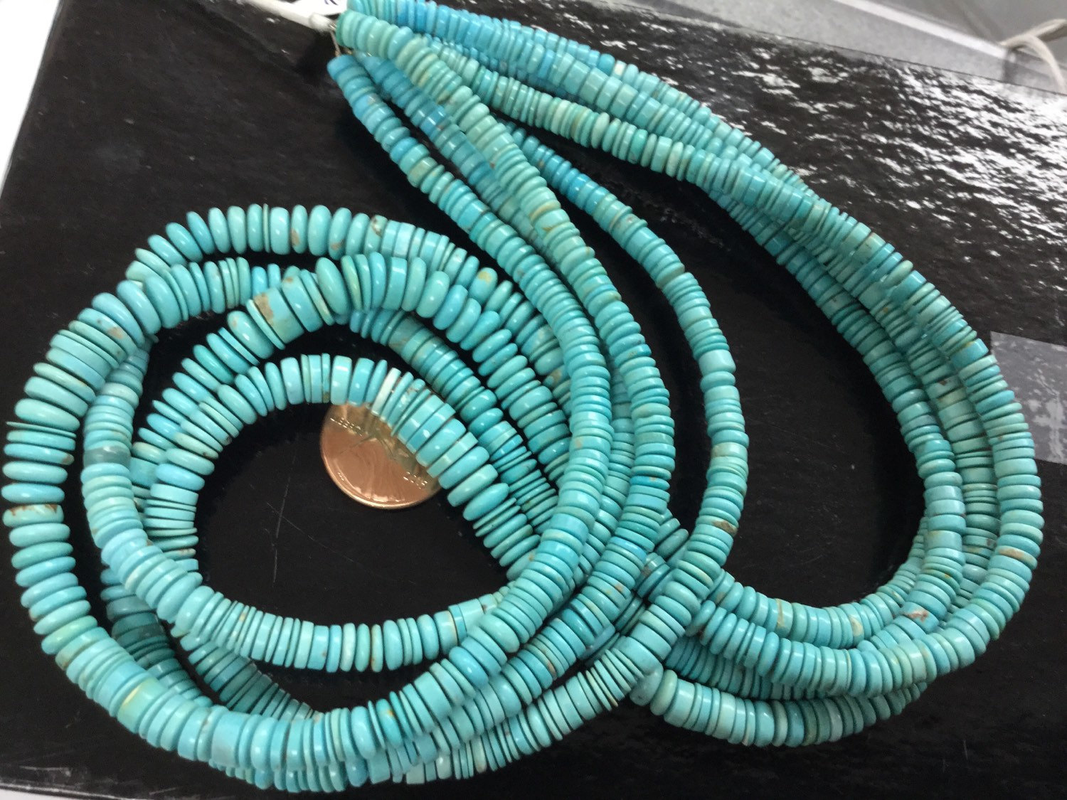 Arizona Turquoise Sleeping Beauty Tires Smooth