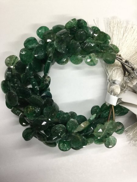 Aventurine Hearts Faceted