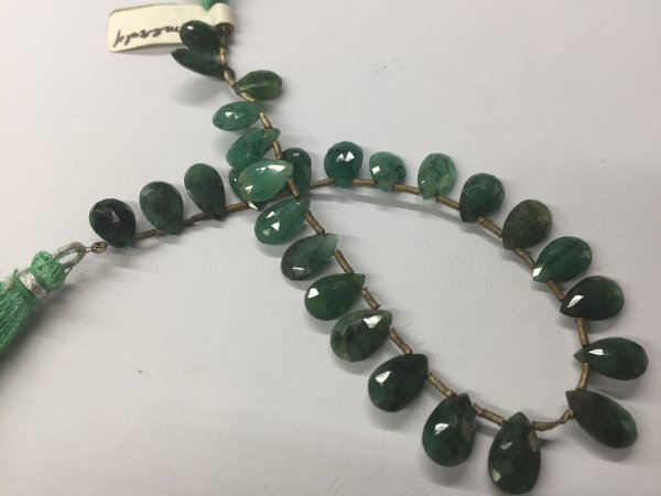Emerald Pear Faceted