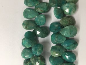 Chrysocolla Pears Faceted