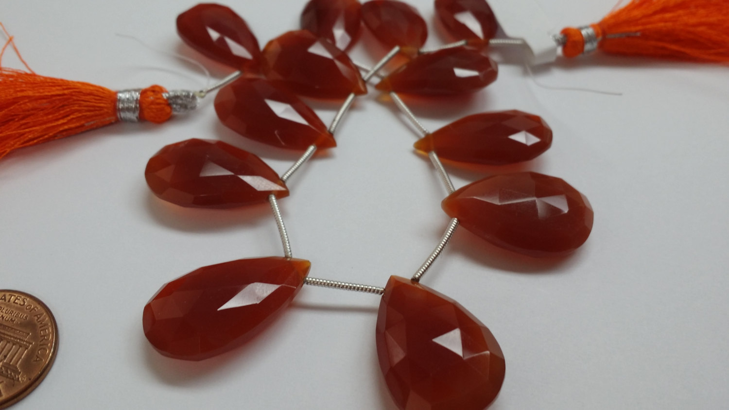 Beautiful Carnelian Pears Faceted