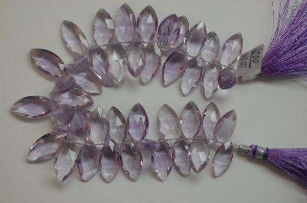 Beautiful Hydro Pink Amethyst Marquise Faceted