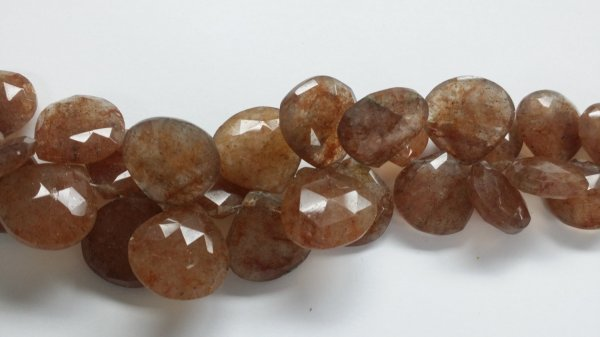 Beautiful Natural Sunstone Hearts Faceted
