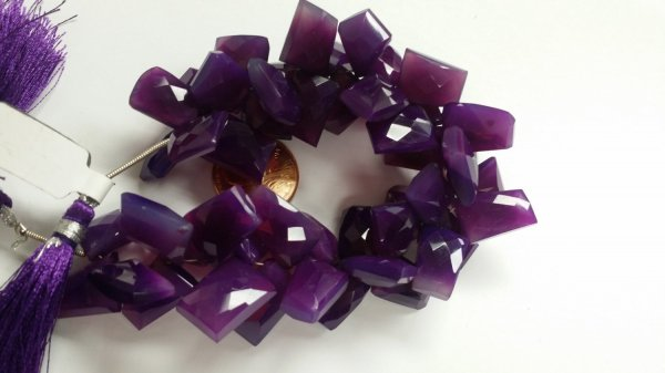 Beautiful Purple Chalcedony Funky Cut Faceted