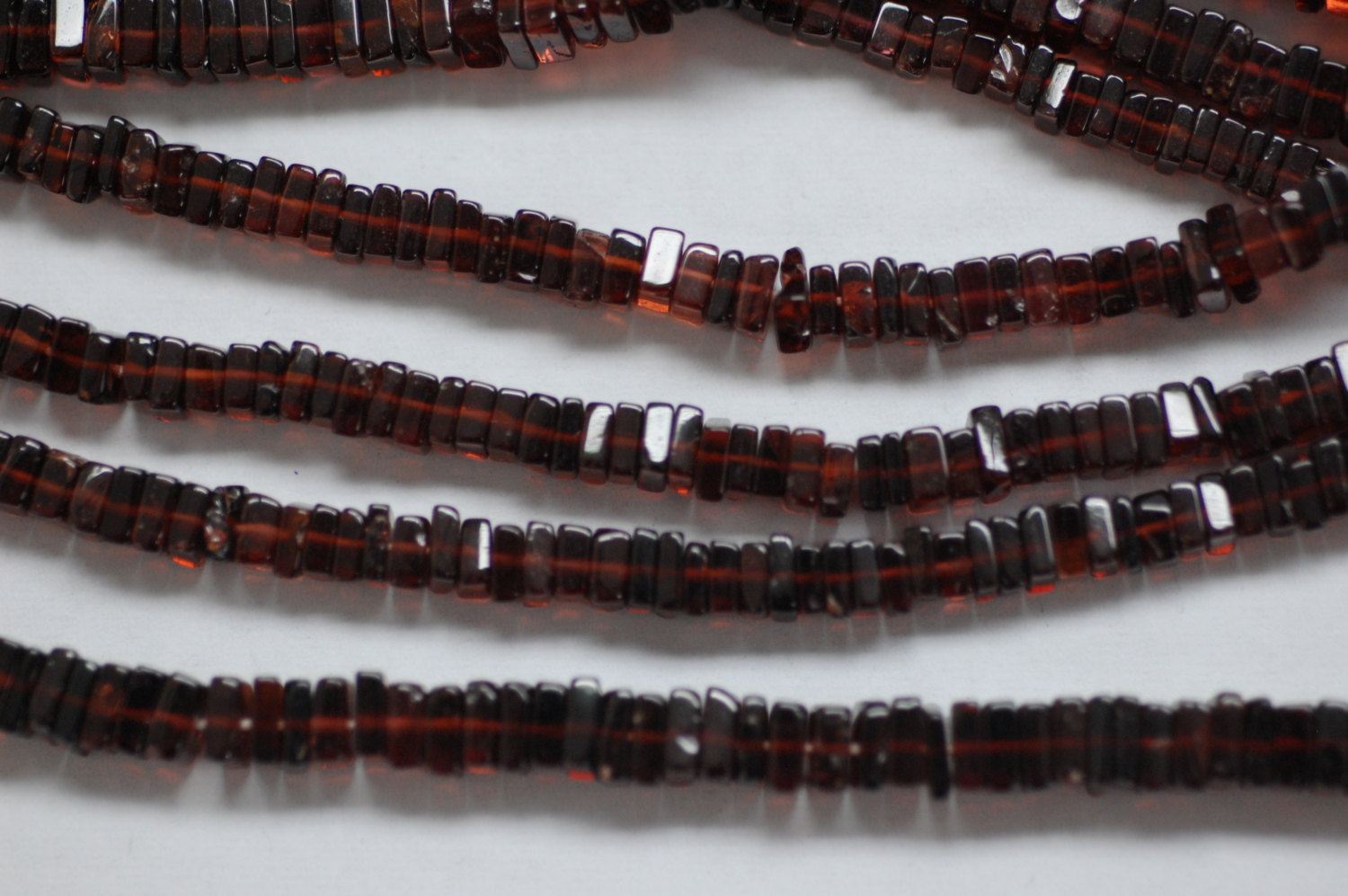 Beautiful Red Garnet Square Cut Smooth