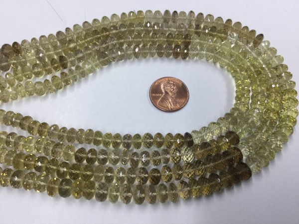 Beer Whisky Quartz Rondelles Faceted