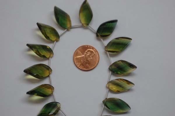 Bio-Lemon Hydro Quartz Twisted Leaf Faceted