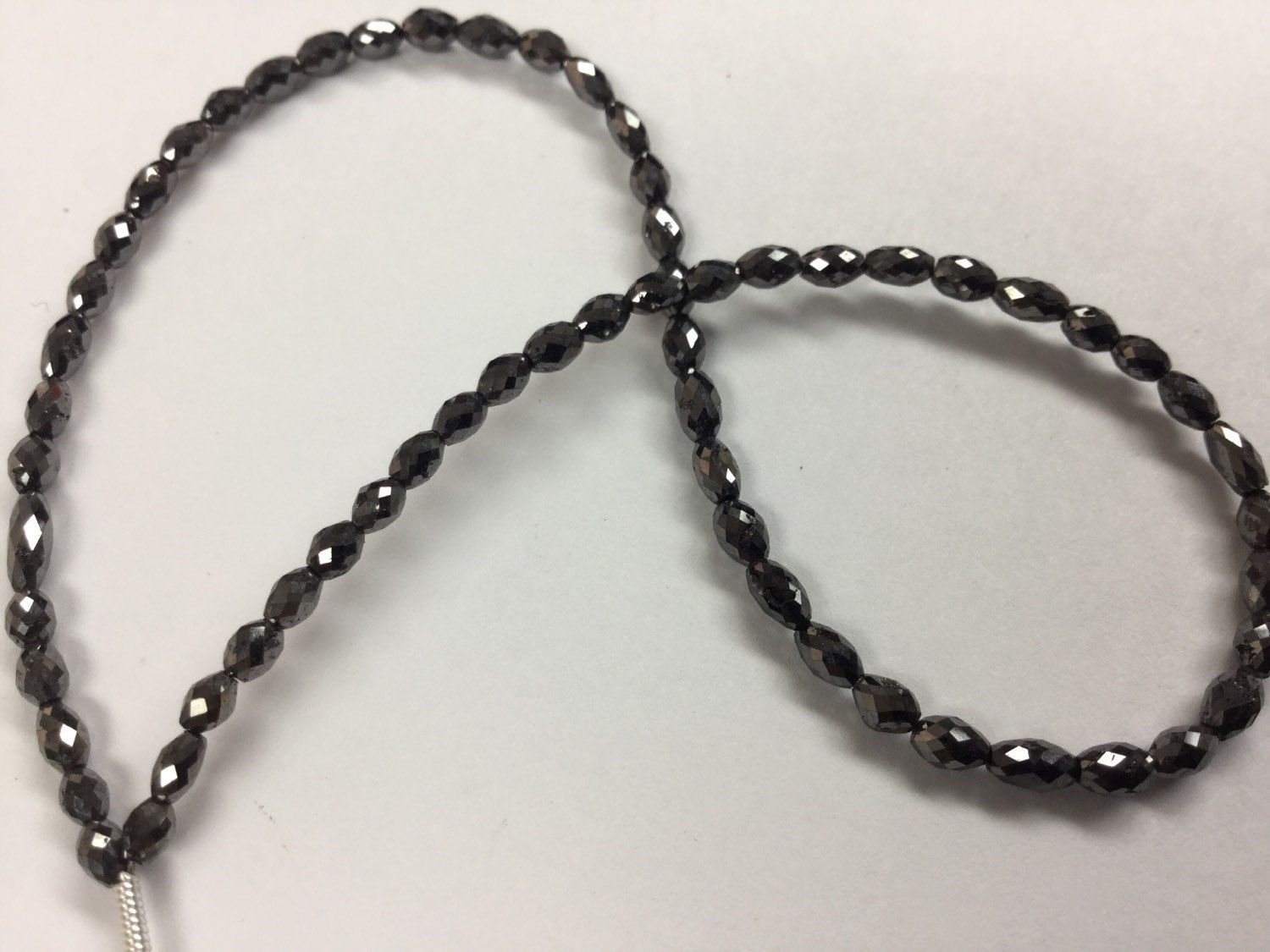Black Diamond Ovals Faceted