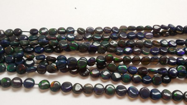 Black Opal Coins Smooth (Natural)