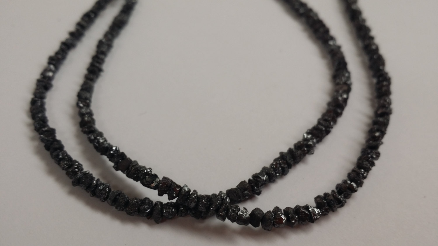 Black Rough Cut Diamonds Faceted