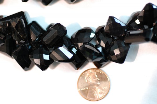 Black Spinal Funky Faceted