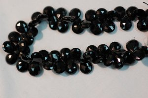 Black Spinal Pear Faceted
