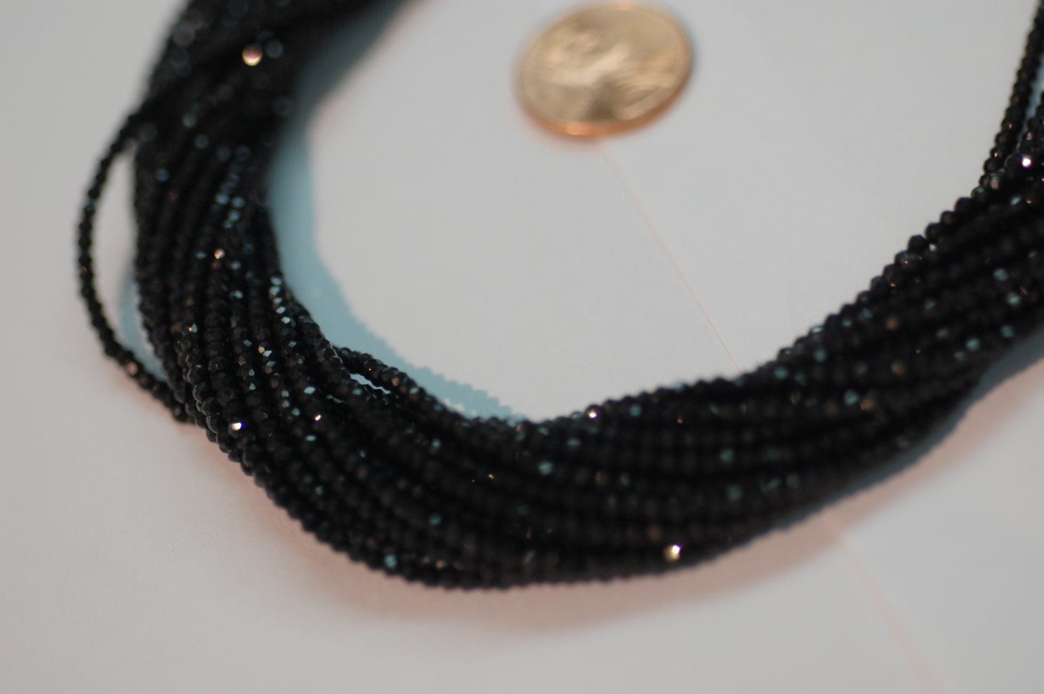 Black Spinel Rondelle Faceted
