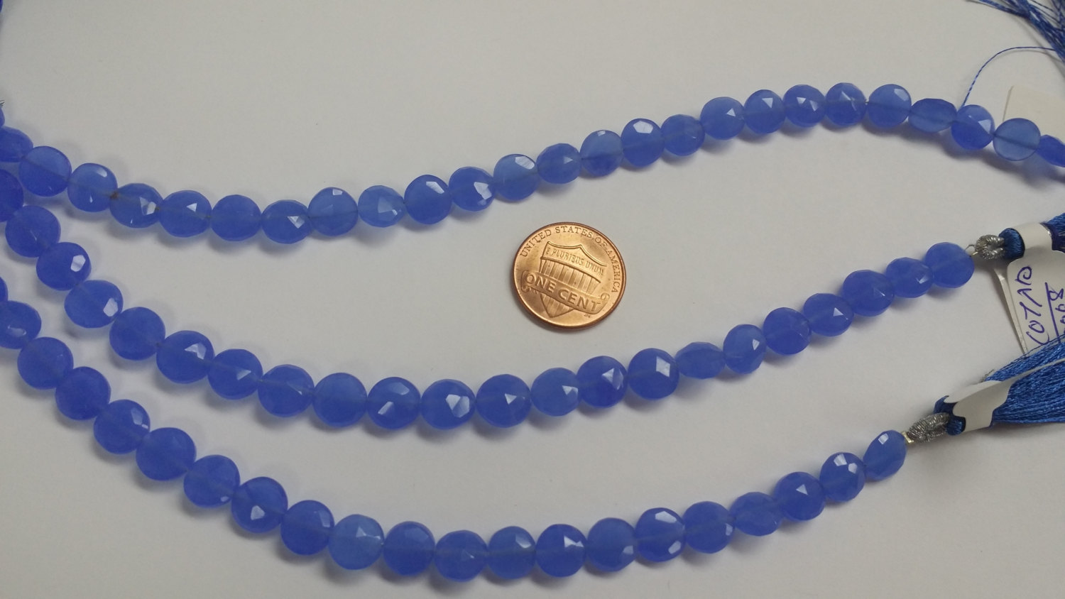 Blue Chalcedony Coins faceted
