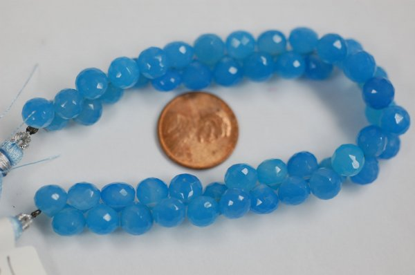 Blue Chalcedony Onions Faceted Heated