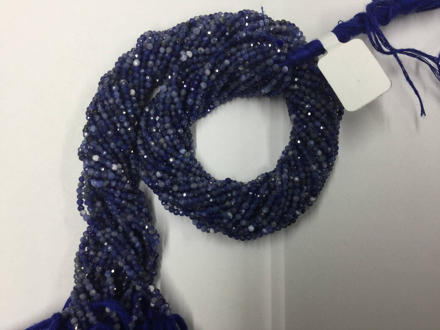 Sodalite Rondelles Faceted