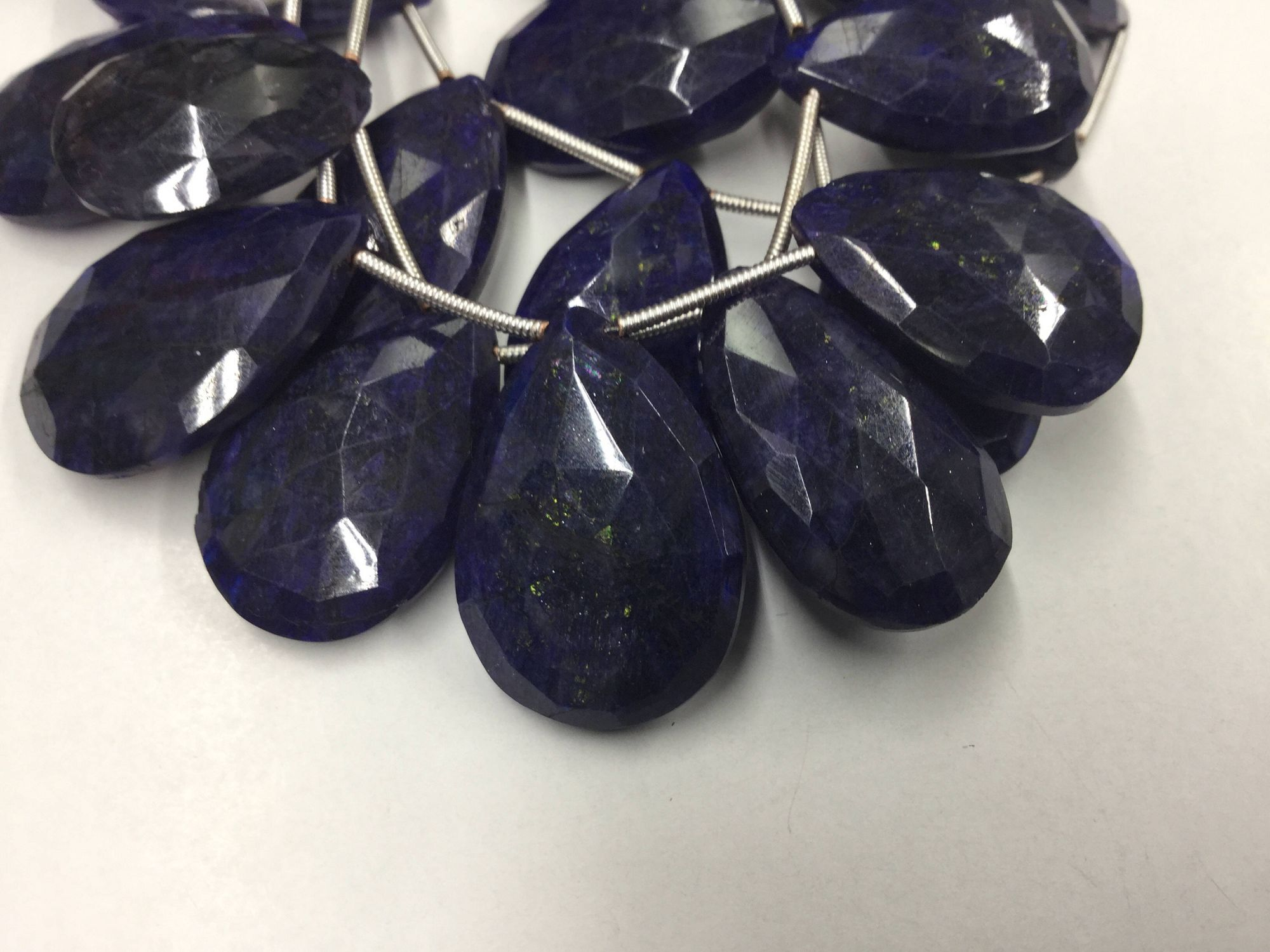 Blue Labradorite Pears Faceted