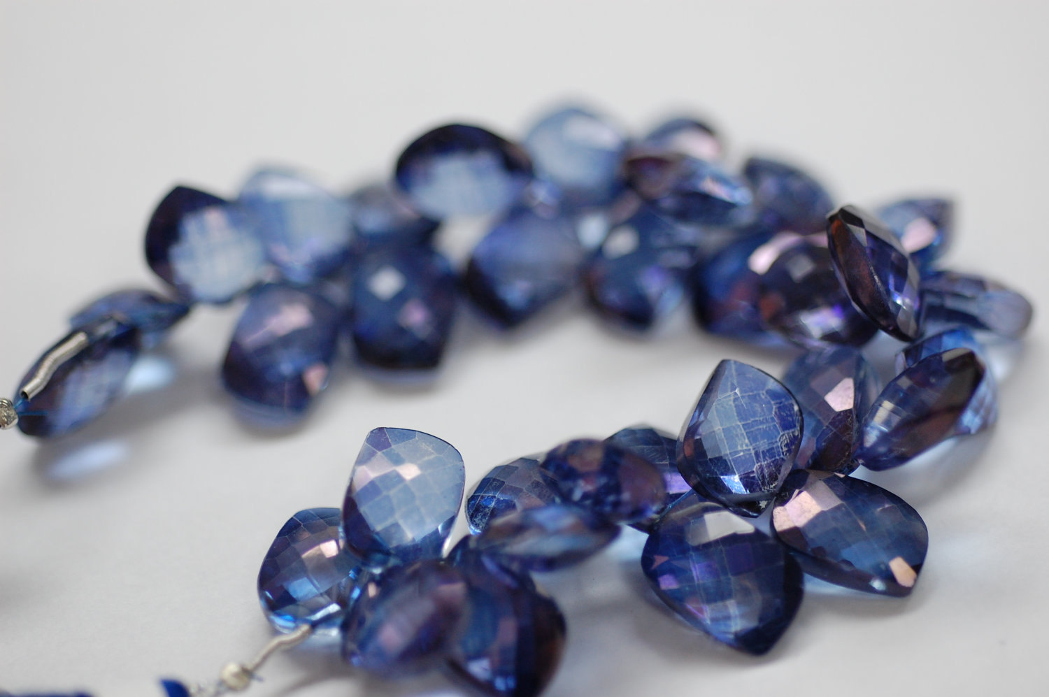 Blue Mystic Quartz Leaf Shape Faceted