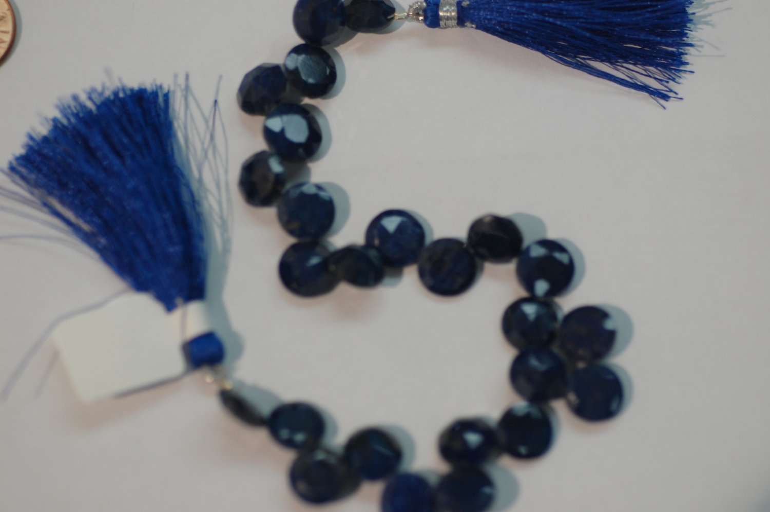 Blue Sapphire Coins Faceted