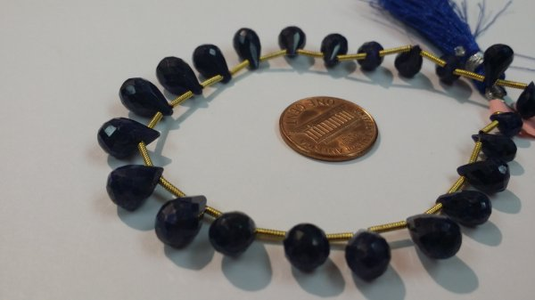 Blue Sapphire Drops Faceted