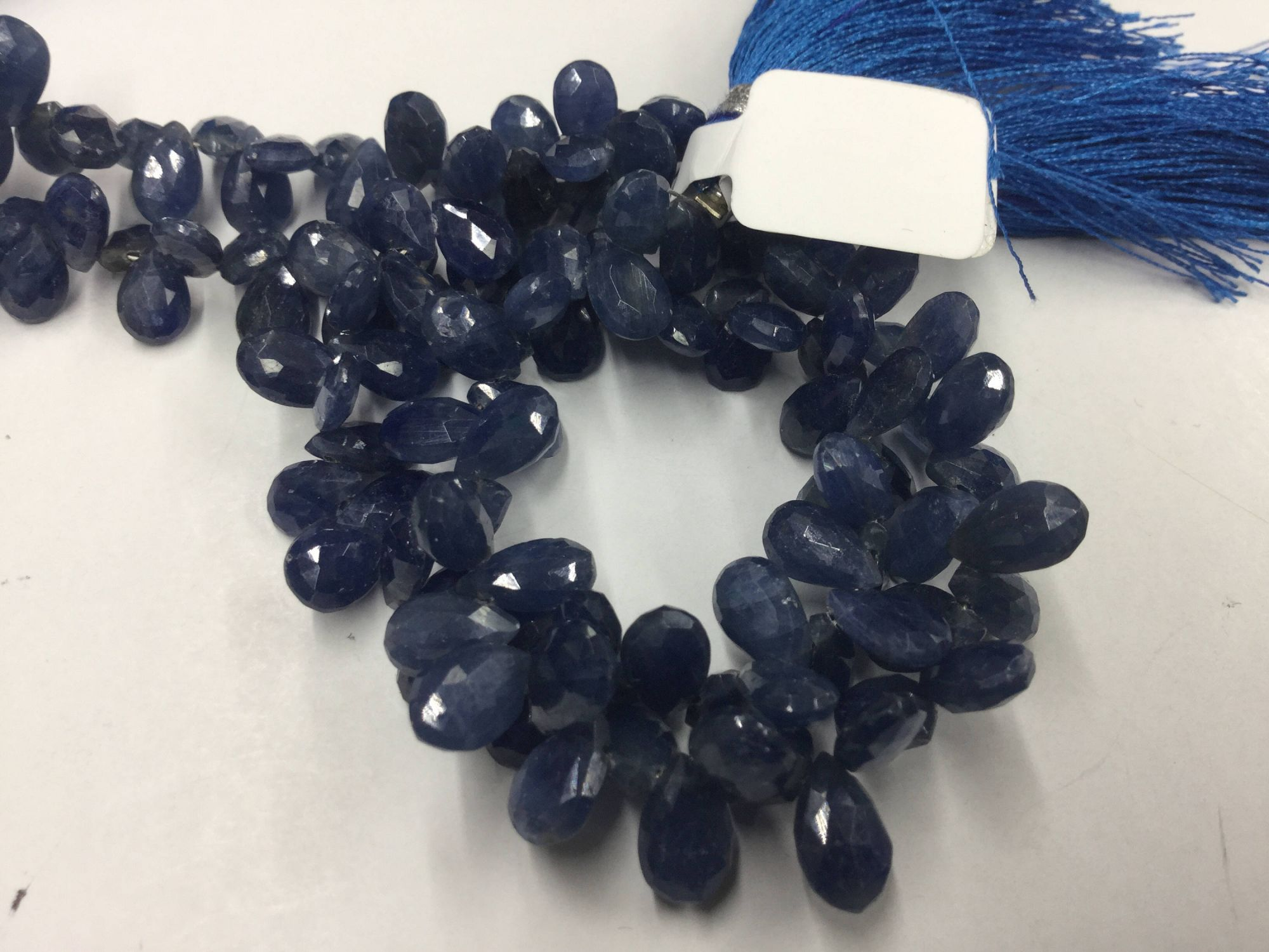 Blue Sapphire Pears Faceted