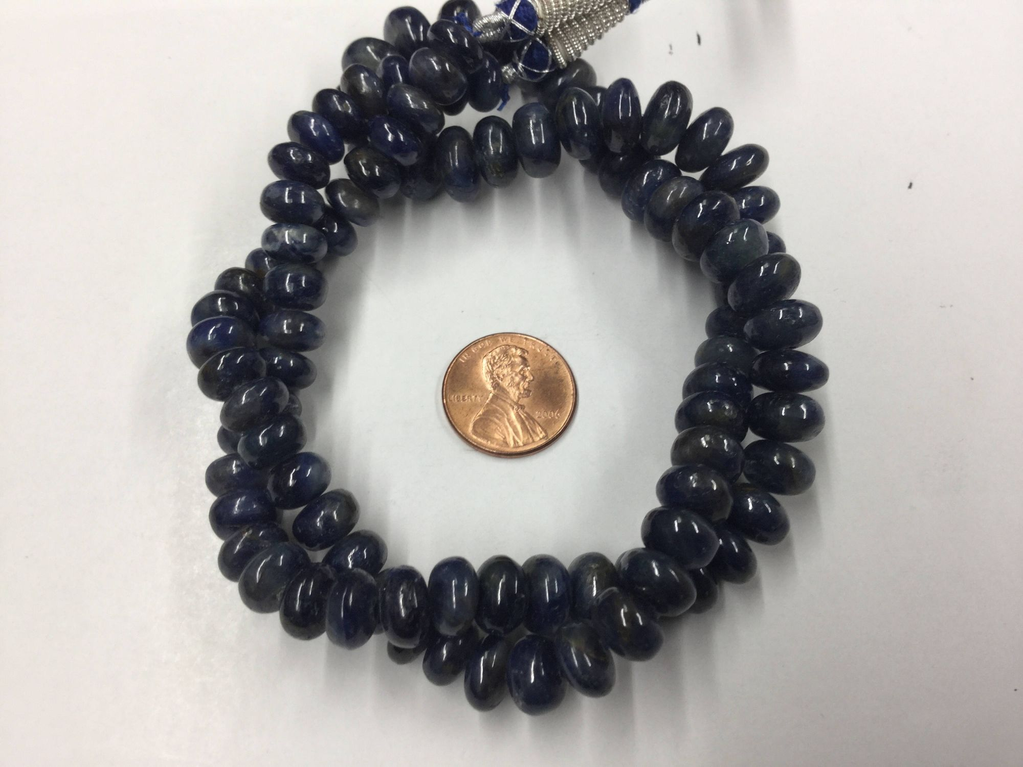 Blue Sapphire Rondelles Smooth