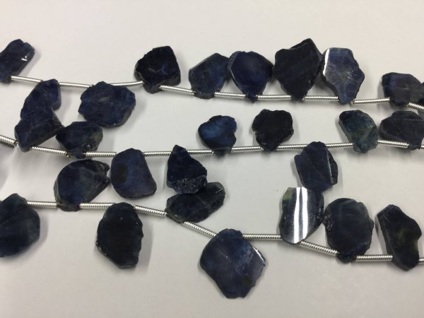 Blue Sapphire Slices Faceted
