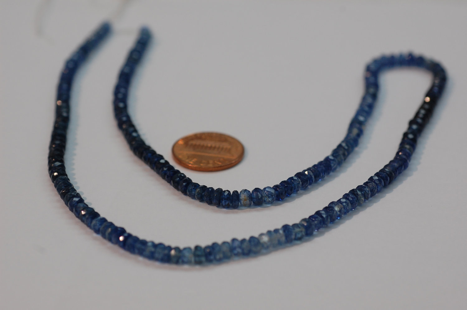 Blue Shapphire Rondelle Faceted