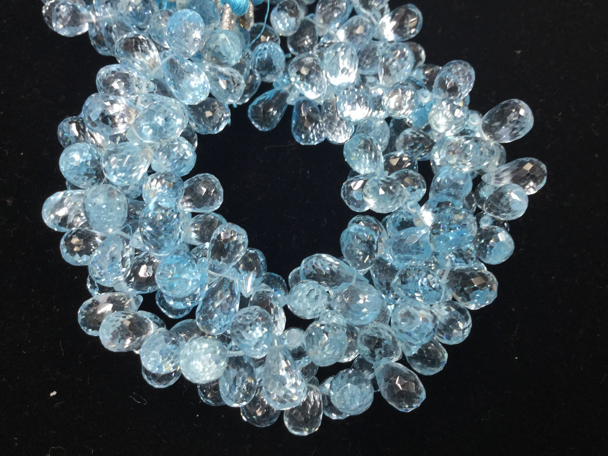 Blue Topaz Drops Faceted