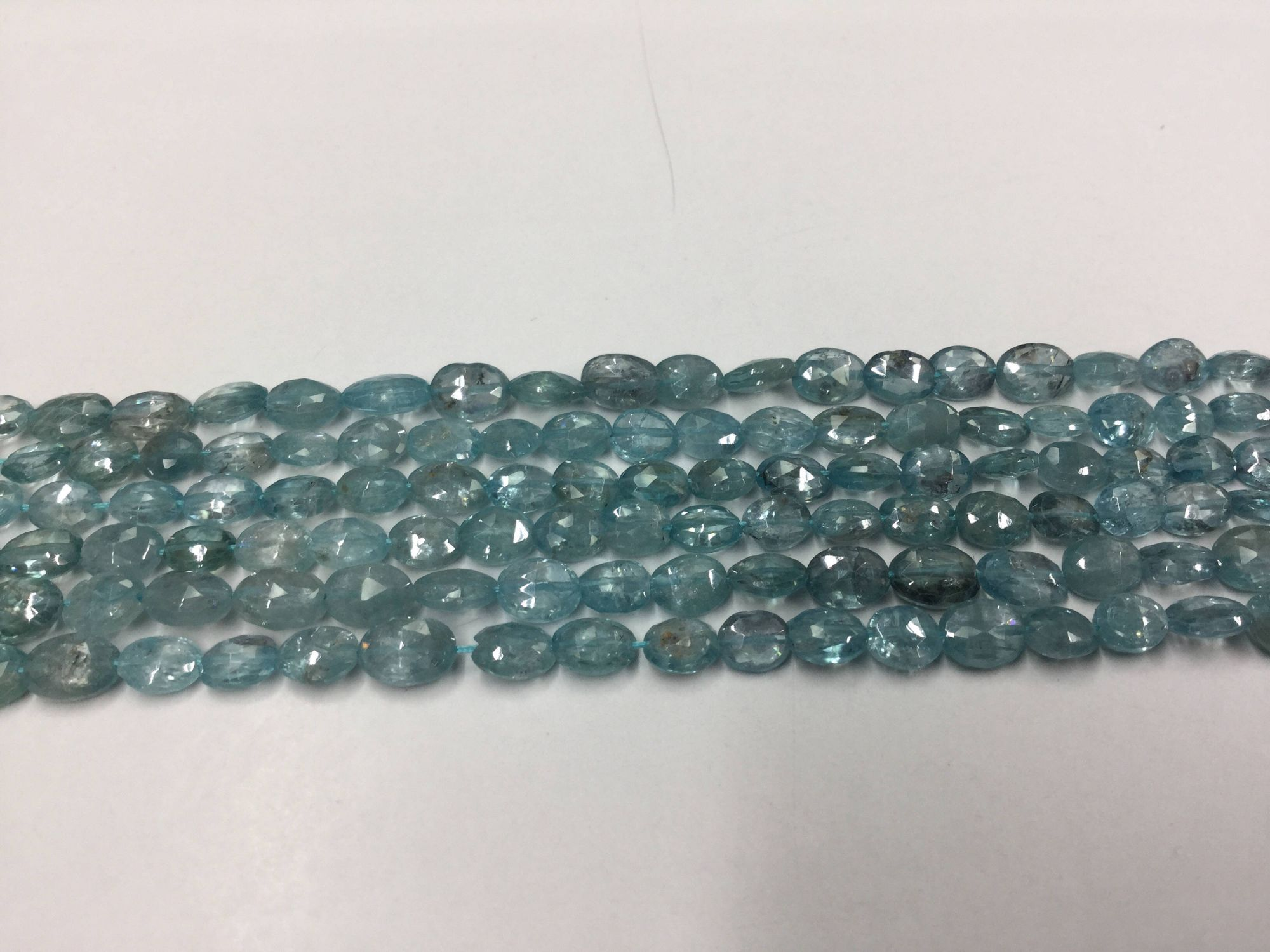 Blue Zircon Ovals Faceted