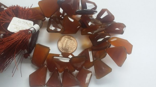 Brown Chalcedony Funky Cut Faceted