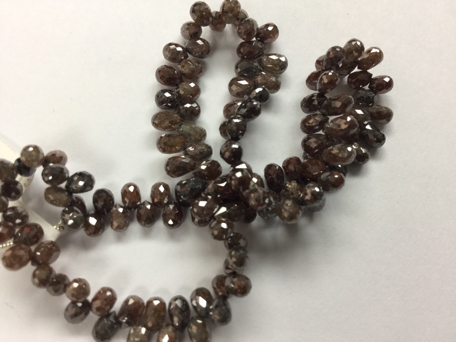 Brown Diamonds Drops Faceted