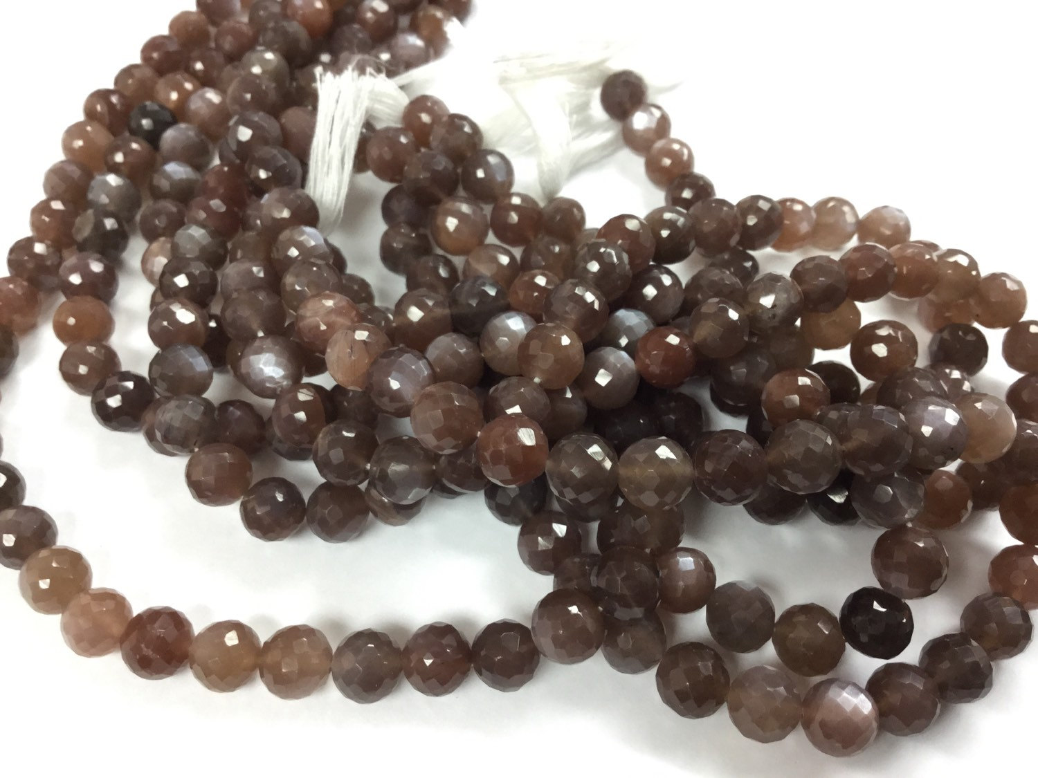 Brown Moonstone Rounds Faceted
