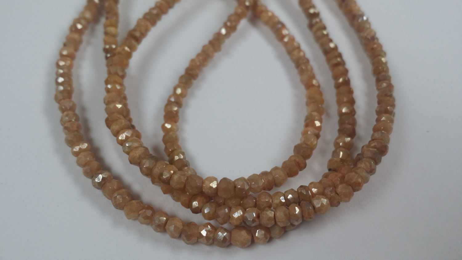 Brown Silverite Rondelles Faceted