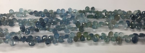Aquamarine Pears Faceted