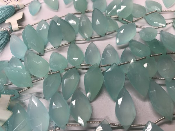 Aqua Chalcedony Arrowheads Faceted