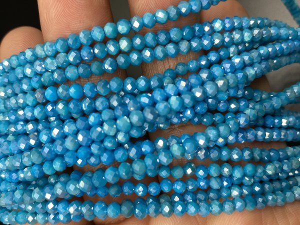 Coated Moonstone Rondelle Faceted
