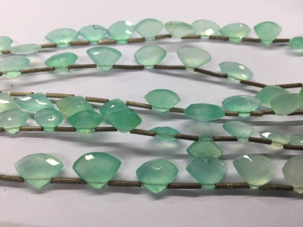 Chrysoprase Rounded Triangle Faceted