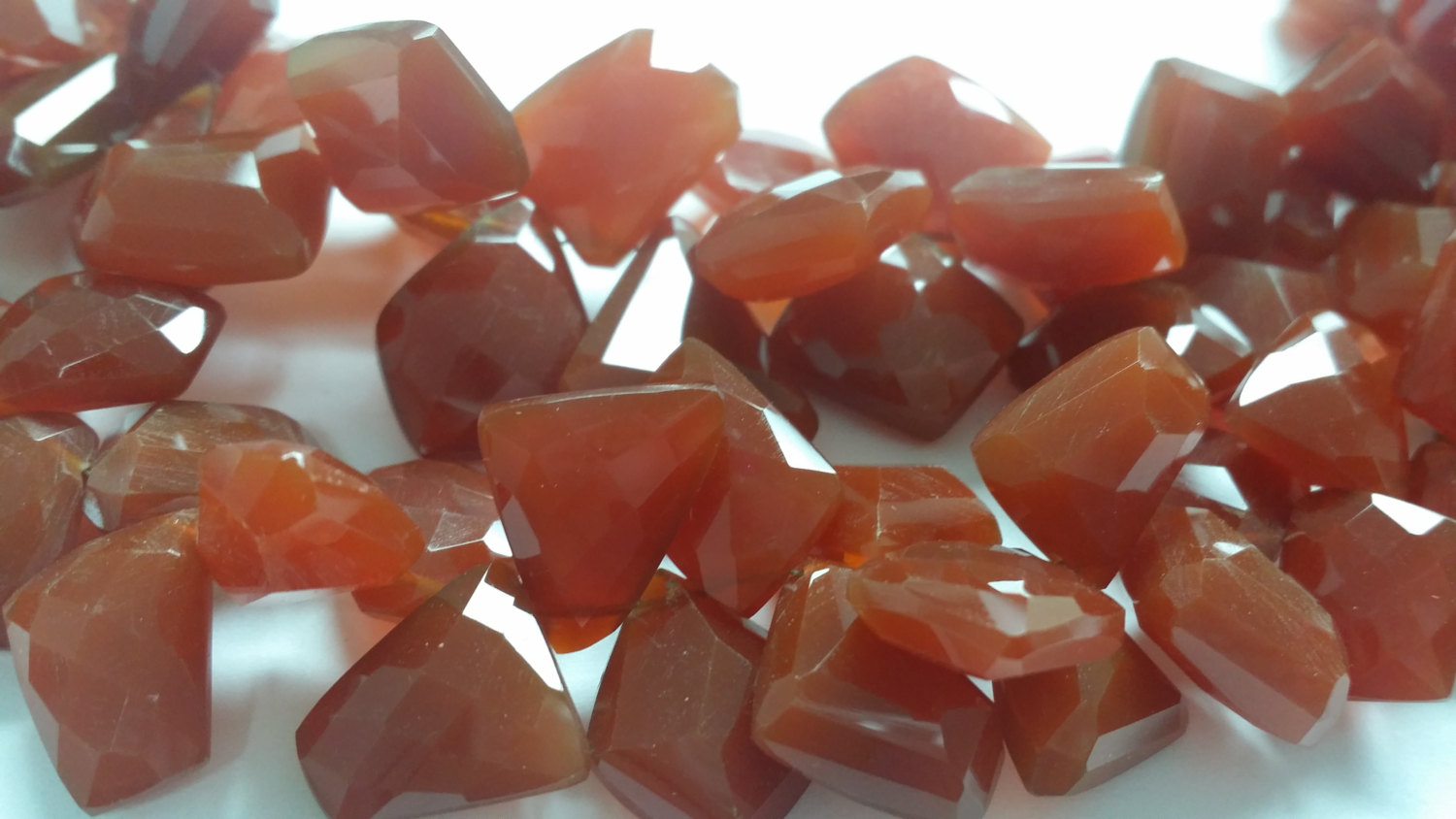 Cannelian Funky Cut Faceted