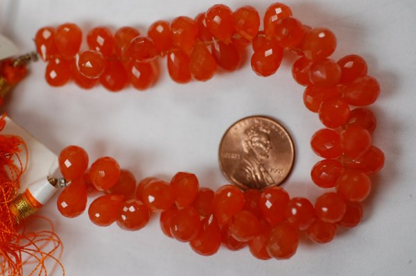 Carnelian Drops Faceted