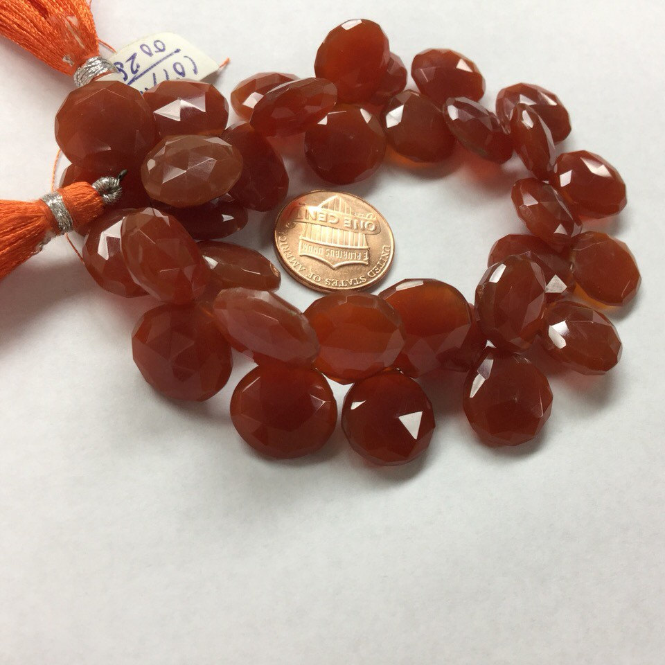 Carnelian Hearts Faceted
