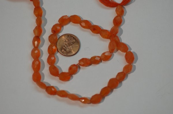 Carnelian Oval Faceted