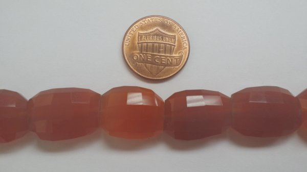 Carnelian Oval Step Cut Hydro Quartz