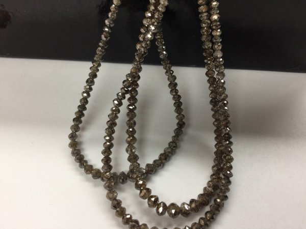 Champagne Diamonds Rondelles Faceted