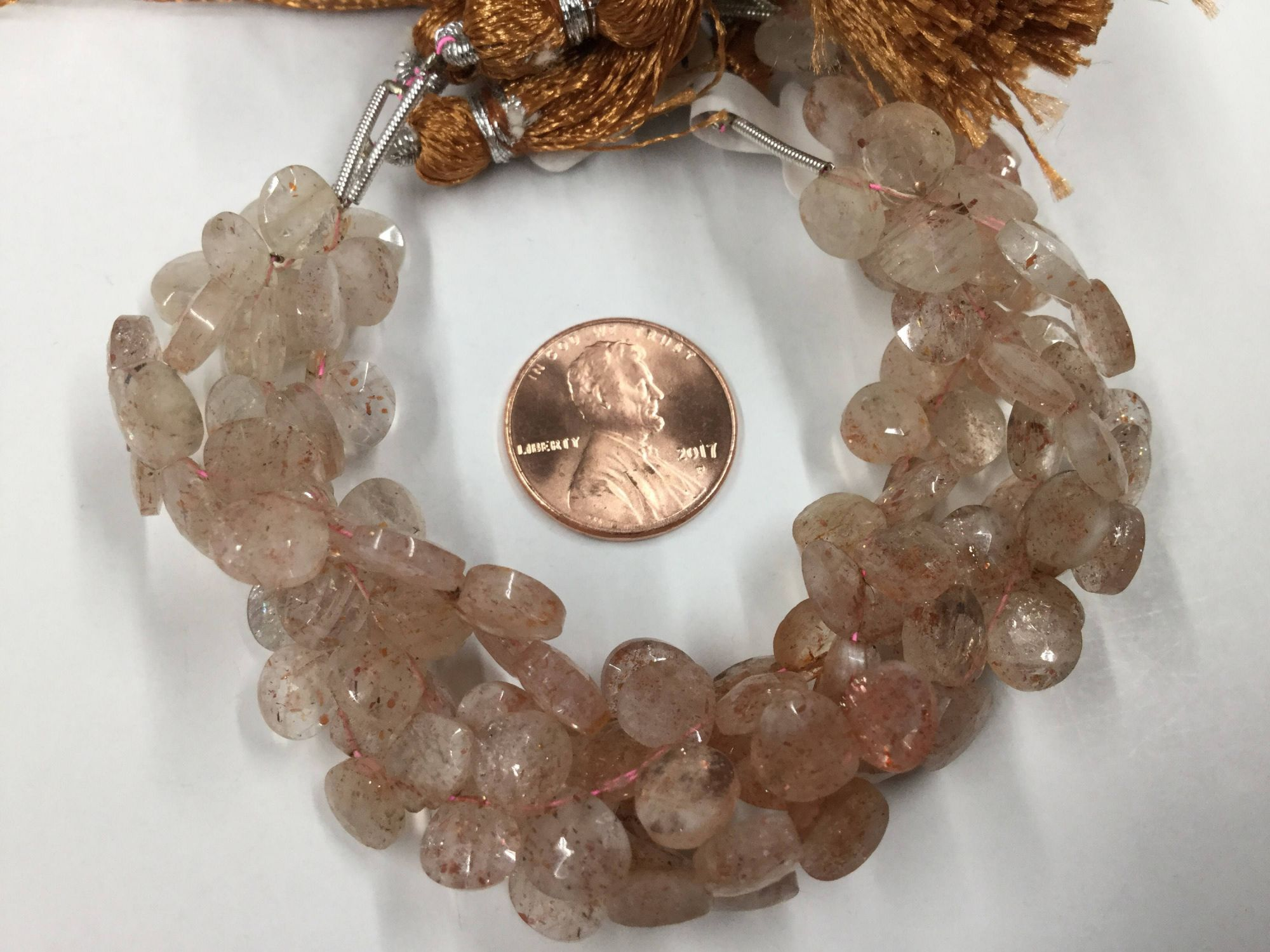 Cherry Quartz Hearts Faceted