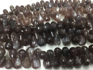 Chocolate Moonstone Drops Faceted