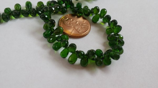 Chrome DiOpside Drops Faceted (Natural)