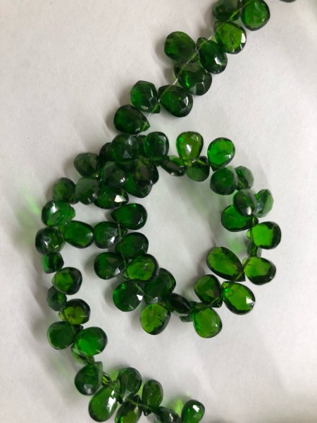 Chrome Diopside Pears Faceted
