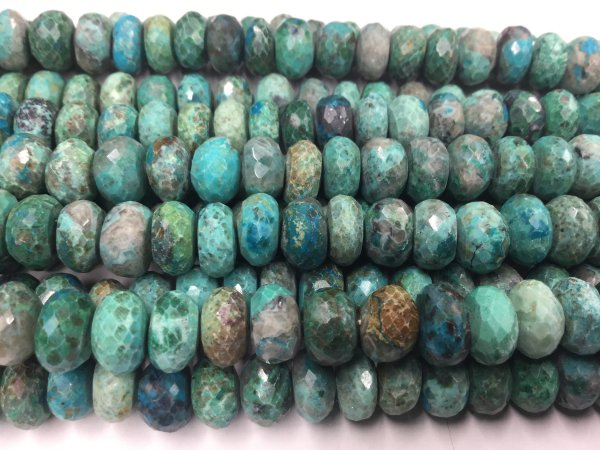 Chrysocolla Rondelles Faceted